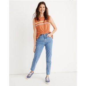 Madewell Perfect Vintage Jean: Pinstripe Edition